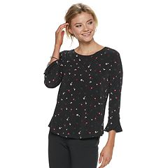 Women's ELLE™ Print Crepe Top