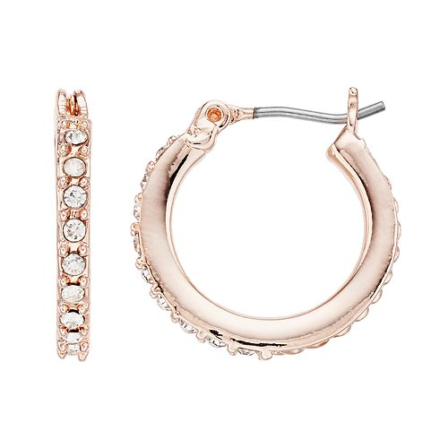 Simply Vera Vera Wang Rose Gold Tone Hoop Earrings