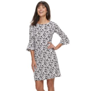 Women's ELLE? Floral Crepe Shift Dress