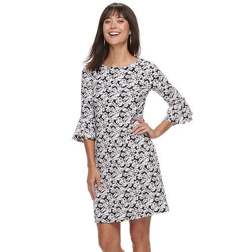 Women's ELLE™ Floral Crepe Shift Dress