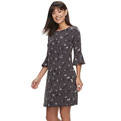 Women's ELLE™ Floral Crepe Shift Dress