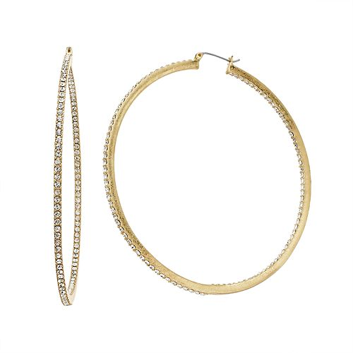 Simply Vera Vera Wang Simulated Crystal Inside Out Hoop Earrings