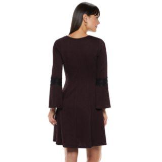 Women's ELLE? Lace-Trim Fit & Flare Dress