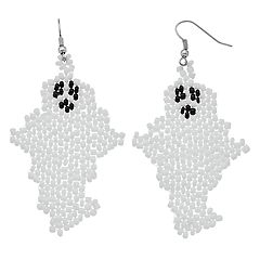 Beaded Nickel Free Ghost Drop Earrings