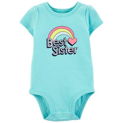 "Baby Girl Carter's ""Best Sister"" Graphic Bodysuit"
