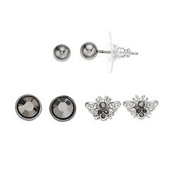 Simply Vera Vera Wang Bee & Ball Stud Earring Set