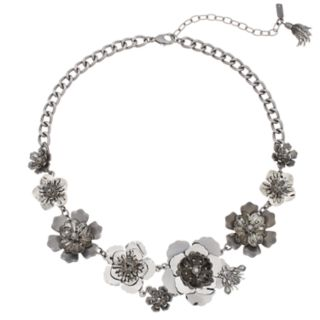 Simply Vera Vera Wang Two Tone Flower Statement Necklace