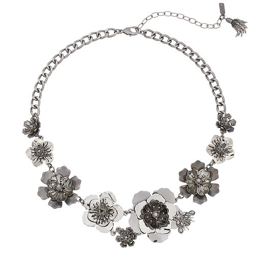 Simply vera vera wang black white flower statement necklace null flower statement necklace sale mightylinksfo