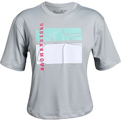 Girls 7-16 Under Armour Graphic Mesh Back Tee