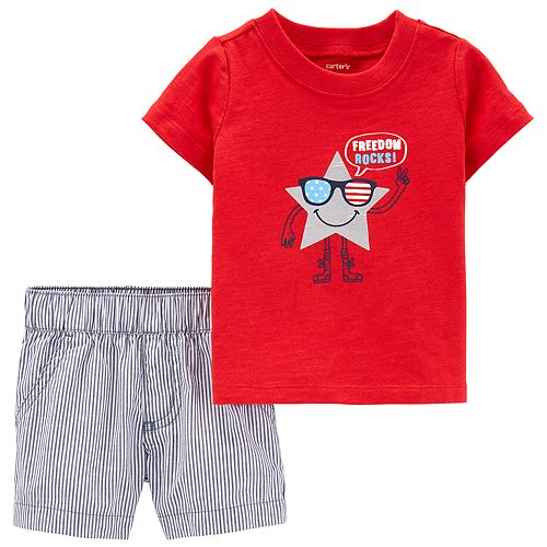 Baby Girl Carter's 4th of July Tee & Shorts Set