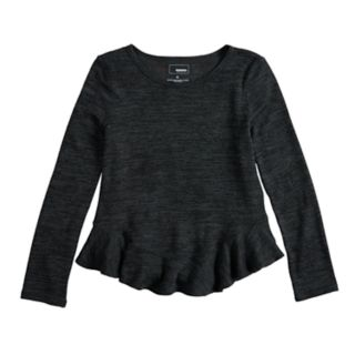 Girls 4-12 SONOMA Goods for Life? Curved Ruffle-Hem Knit Sweater