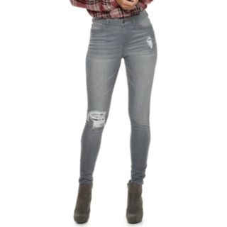 Women's Jennifer Lopez Sequin-Embellished MidRise Skinny Jeans