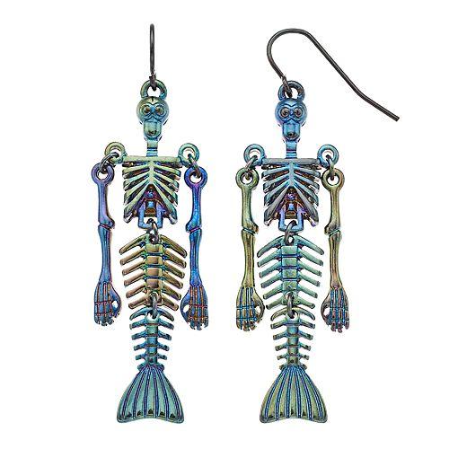 Shaky Skeleton Nickel Free Drop Earrings