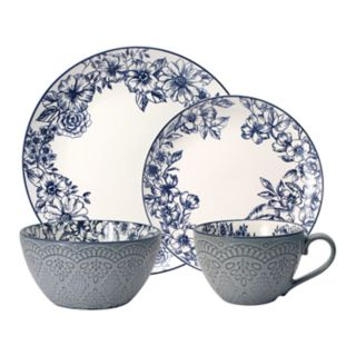 Pfaltzgraff 16-piece Gabriela Blue Dinnerware Set