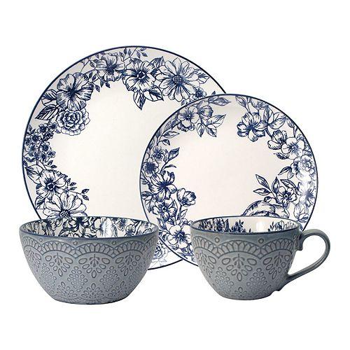 Pfaltzgraff 16-piece Gabriela Blue Dinnerware Set