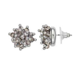 Simply Vera Vera Gray Bead Cluster Stud Earrings