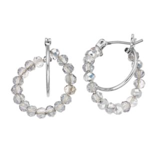 Simply Vera Vera Wang Beaded Double Hoop Earrings