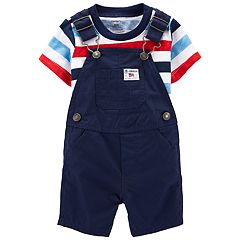 e592514e3 Baby Boy Carter's Striped 4th of July Tee & Shortalls Set