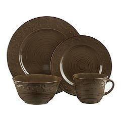 Pfaltzgraff 16-piece Trellis Green Dinnerware Set