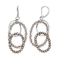 Simply Vera Vera Wang Beaded Interlocking Hoop Earrings