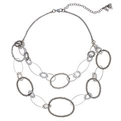 Simply Vera Vera Wang Two Tone Oval Link Statement Necklace