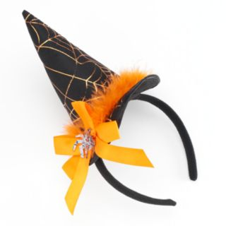 Halloween Spider & Bow Witch's Hat Headband