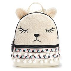 T-Shirt & Jeans Festive Llama Faux-Fur Mini Backpack