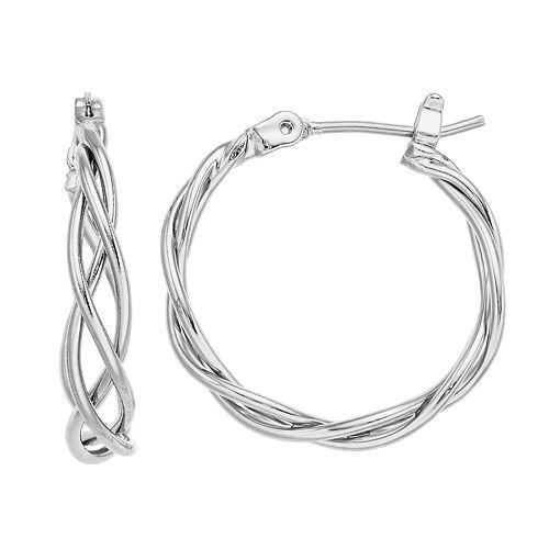 Simply Vera Vera Wang Lattice Hoop Earrings