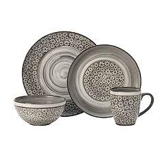 Pfaltzgraff 16-piece Blossom Brown Dinnerware Set