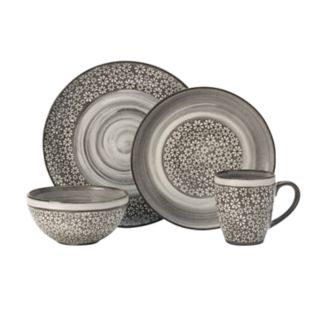 Pfaltzgraff 16-piece Blossom Brown Dinnerware Set