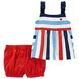 Baby Girl Carter's Striped Tank Top & Shorts Set