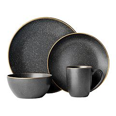Gourmet Basics by Mikasa 16-piece Juliana Black Dinnerware Set