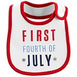 "Baby Carter's ""First Fourth of July"" Bib"