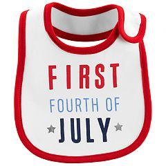 Baby Carter's 'First Fourth of July' Bib