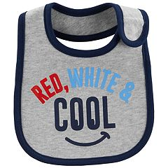 Baby Carter's 'Red, White & Cool' Bib