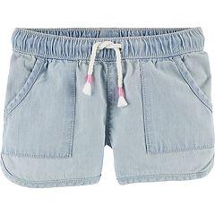 Toddler Girl OshKosh B'gosh® Denim Dolphin-Hem Shorts