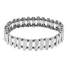 Two Tone Bar Stretch Bracelet