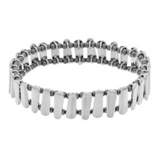 Two Tone Bar Stretch Bracelet