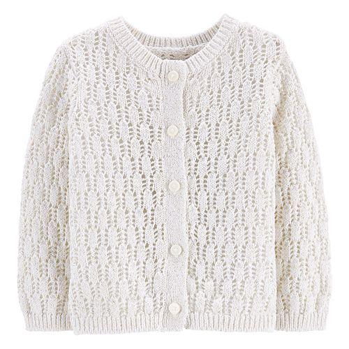Baby Girl OshKosh B'gosh® Pointelle Cardigan Sweater