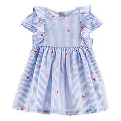 Baby Girl OshKosh B'gosh® Striped & Heart Lurex Dress
