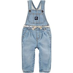 Baby Girl OshKosh B'gosh® Pleated Denim Overalls