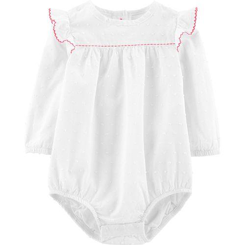 Baby Girl OshKosh B'gosh® Clip-Dot Ruffled Bodysuit