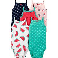 10-Count (2 x 5-Pack) Carter's Baby Boy or Girl One-Piece (various)