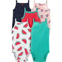 991fc8a5c Baby Girl Carter's 5-pack Sleeveless Summer Bodysuits
