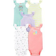 Baby Girl Carter's 5-pack Flutter Sleeve Bodysuits