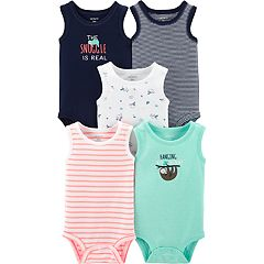 Baby Boy Carter's 5-pack Sleeveless Sloth Bodysuits