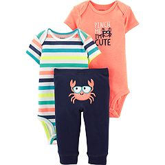 Baby Boy Carter's 3-piece Crab Bodysuits & Pants Set