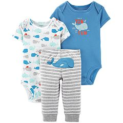 Baby Boy Carter's 3-piece Whale Bodysuits & Pants Set