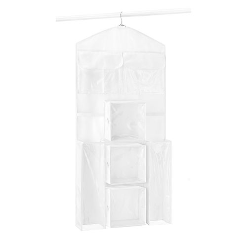 whitmor double sided hanging gift wrap organizer