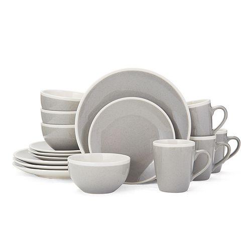 Gourmet Basics by Mikasa 16-piece Melanie Gray Dinnerware Set